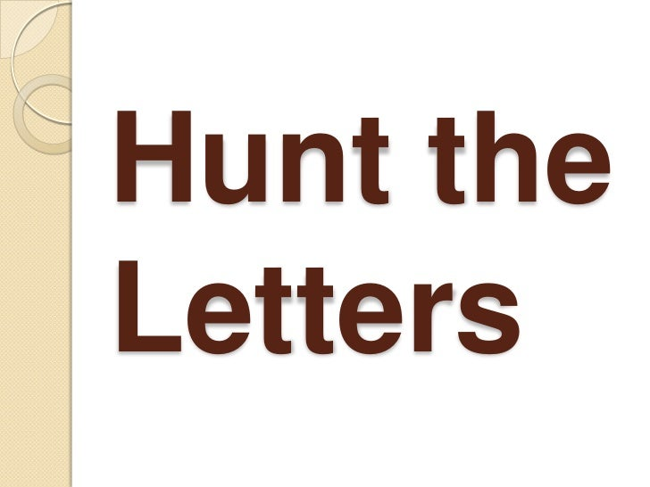 Hunt the Letters<br />