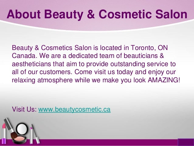 Introduction to beauty cosmetic salon for Beauty salon introduction