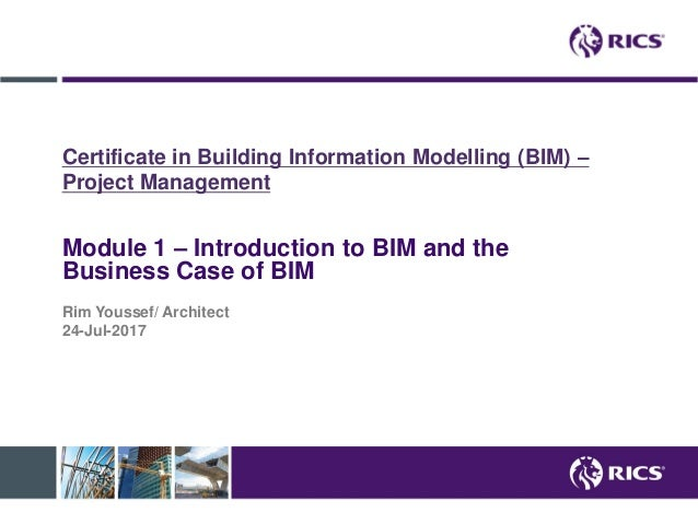 Introduction to BIM and business case of BIM