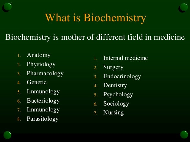 introduction to biochemistry, Human Body