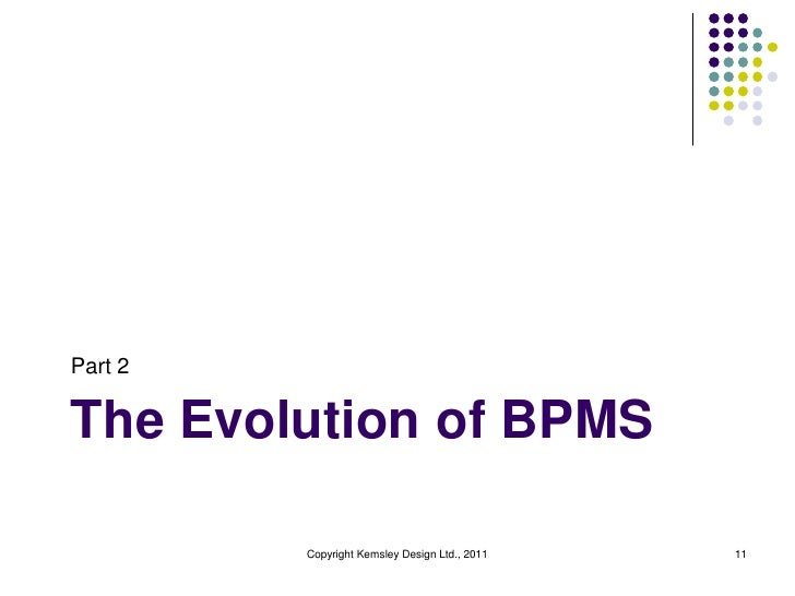 Part 2The Evolution of BPMS         Copyright Kemsley Design Ltd., 2011   11