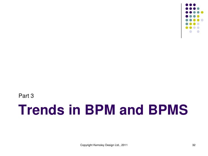 Part 3Trends in BPM and BPMS         Copyright Kemsley Design Ltd., 2011   32