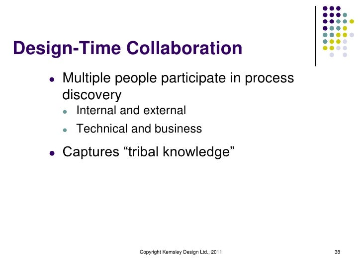 Design-Time Collaboration   l   Multiple people participate in process       discovery       l   Internal and external    ...