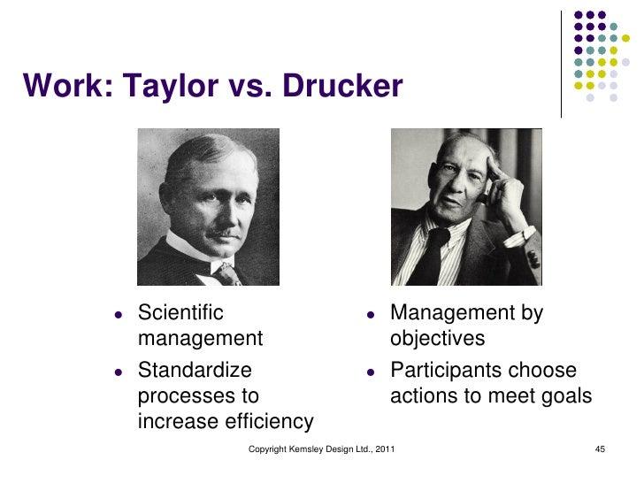 Work: Taylor vs. Drucker     l   Scientific                             l    Management by         management             ...