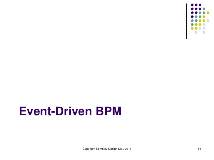 Event-Driven BPM         Copyright Kemsley Design Ltd., 2011   54