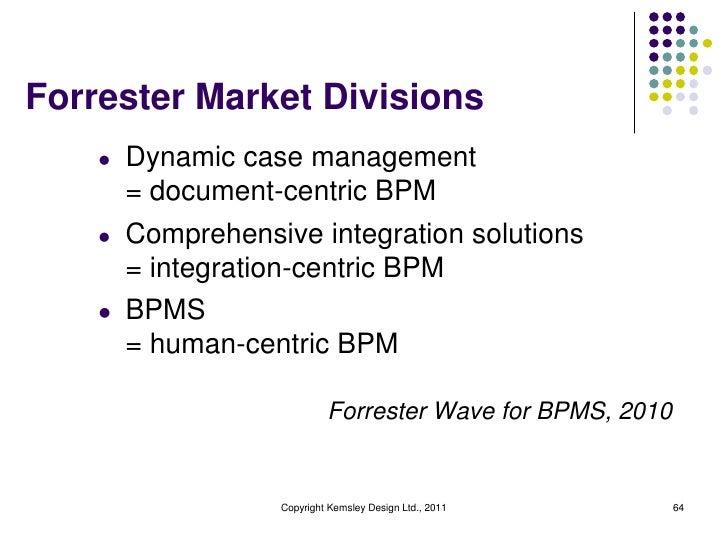 Forrester Market Divisions    l   Dynamic case management        = document-centric BPM    l   Comprehensive integration s...