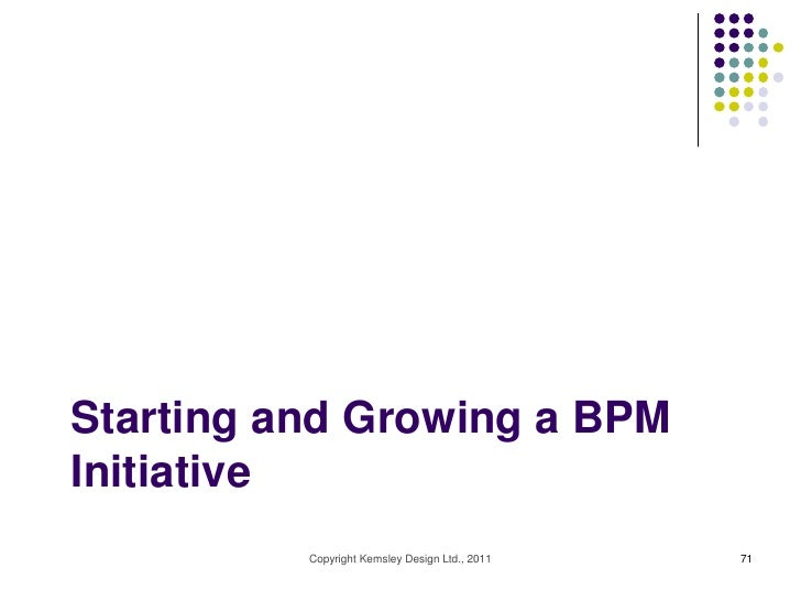 Starting and Growing a BPMInitiative          Copyright Kemsley Design Ltd., 2011   71