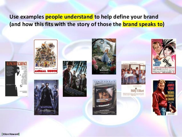 Use examples people understand to help define your brand (and how this fits with the story of those the brand speaks to) [...