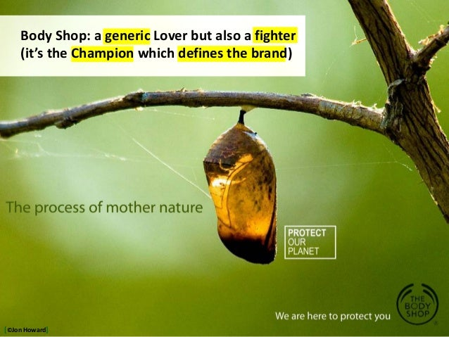 Body Shop: a generic Lover but also a fighter (it's the Champion which defines the brand) [©Jon Howard]
