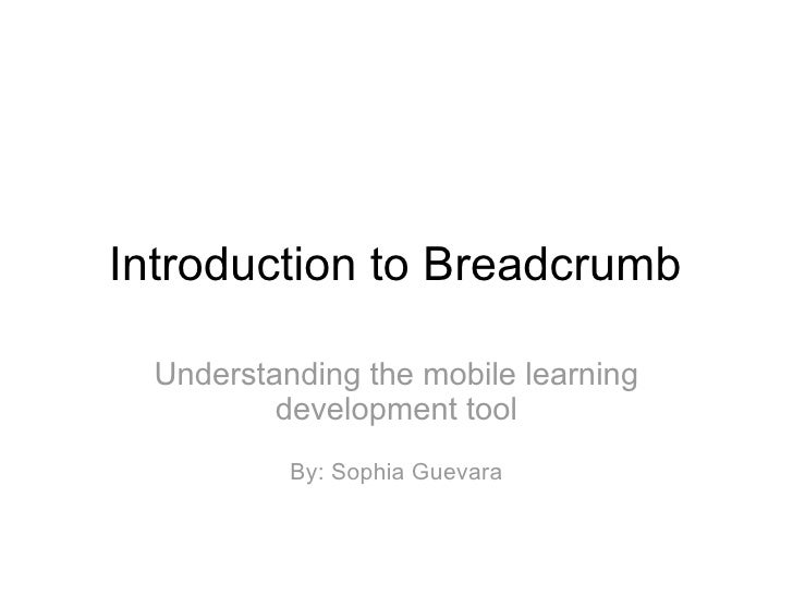 Introduction to Breadcrumb