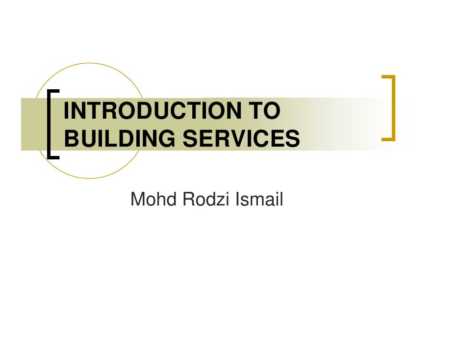 What is Building Services Engineering?