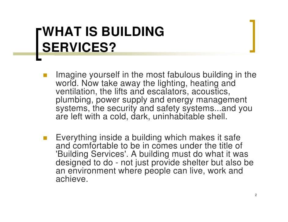 introduction building service