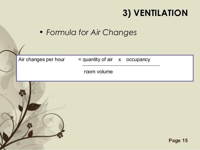Air Changes Per Hour : Introduction to building services part