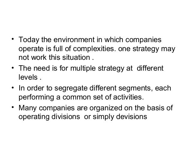 """introduction to business policy Introduction to business policy & strategic management a definition of business  policy """"business policy, basically, deals with decisions regarding the future of."""