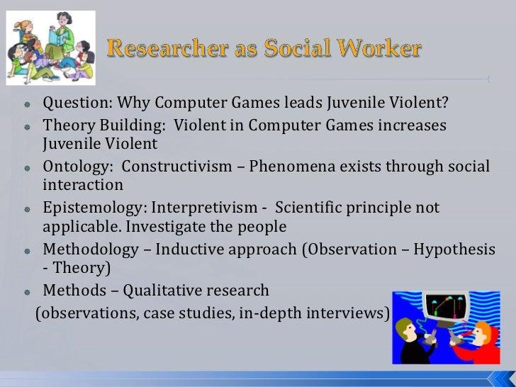  Question: Why Computer Games leads Juvenile Violent? Theory Building: Violent in Computer Games increases  Juvenile Vio...