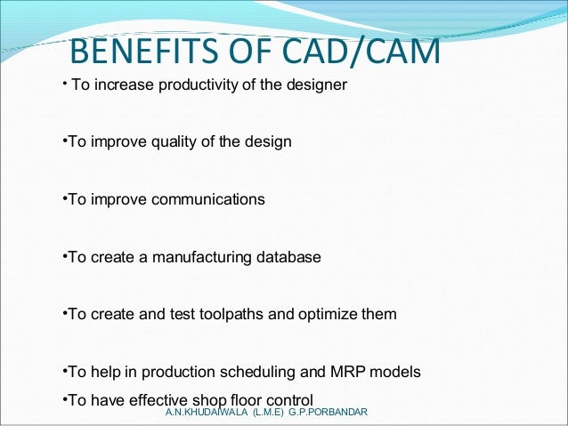 introduction to cad cam in industries