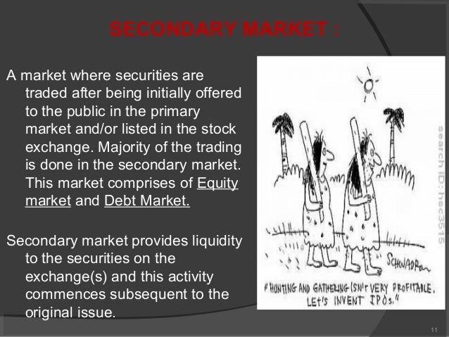 introduction to debt capital markets Basic introduction to financial market & investment banking published on  the capital markets  capital market are financial markets for the buying and selling of long-term debt or equity.