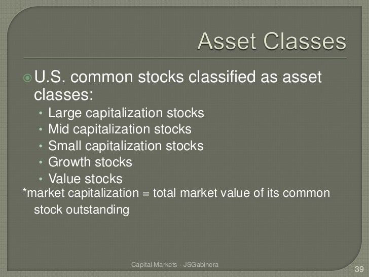 introduction to capital markets pdf