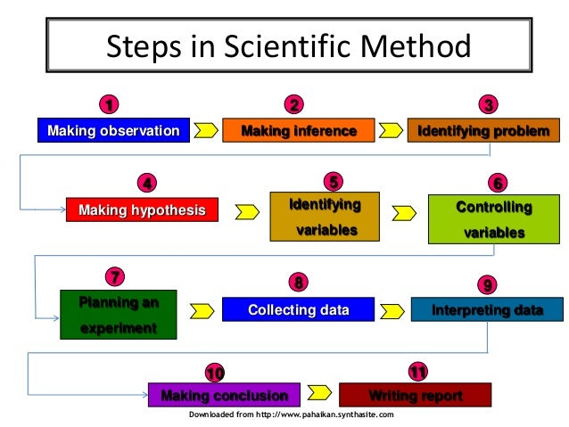 scientific method step In summary, the scientific method attempts to minimize the influence of bias or prejudice in the experimenter when testing an hypothesis or a theory i the scientific method has four steps.