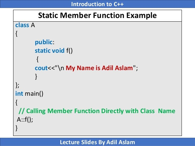 Introduction To C++ Lecture No  18