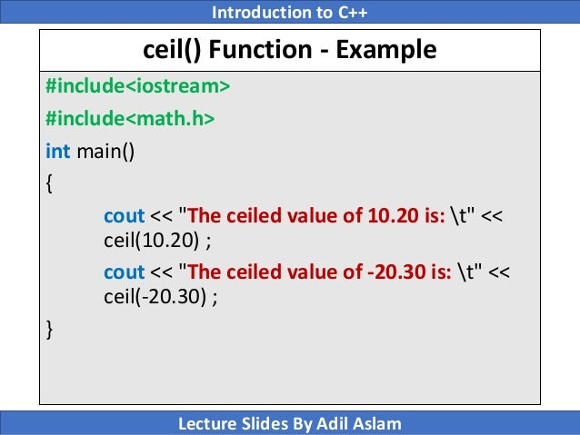 Introduction To C Lecture No 8