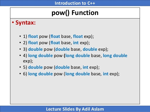 Introduction To C++ Lecture No  8