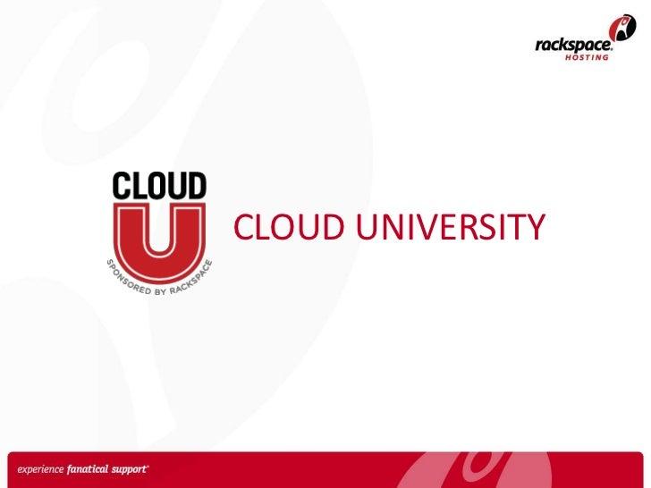 Introduction to Rackspace Cloud University