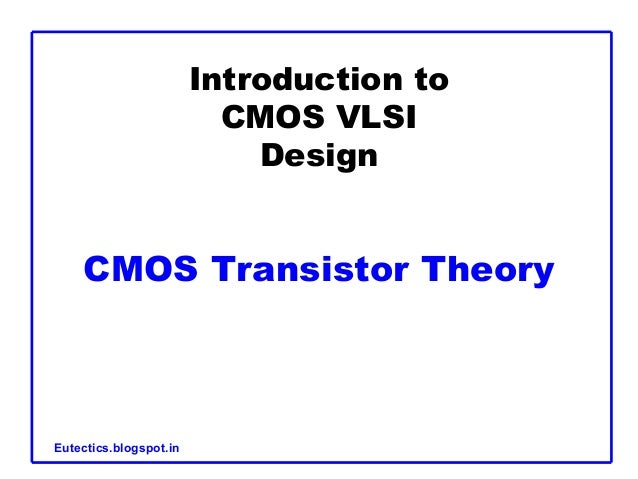 Mos and related vlsi technology pdf