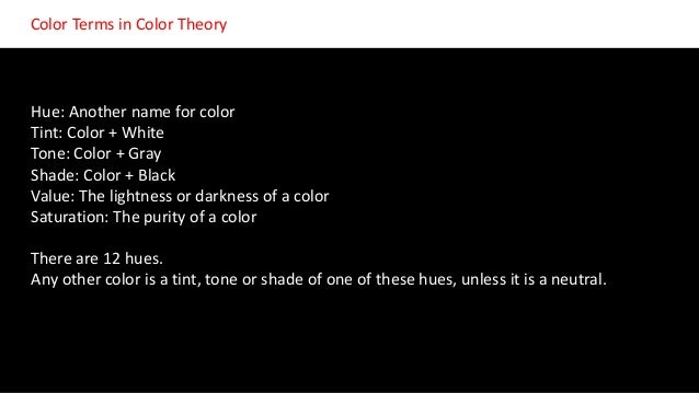 introduction to color theory for multimedia students