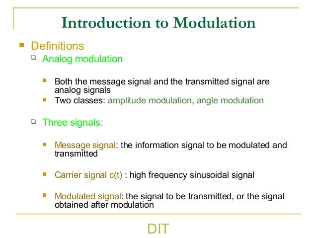 definition of analog communication