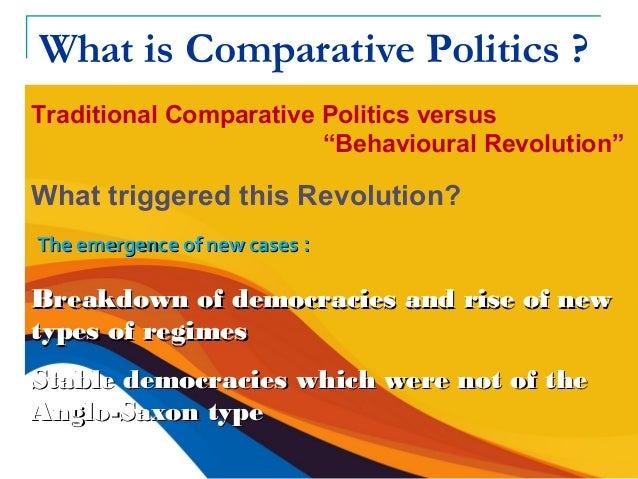 single case studies in comparative politics Impact evaluation no 9 comparative case studies while the strategies used in data collection for single and comparative case studies are similar,.
