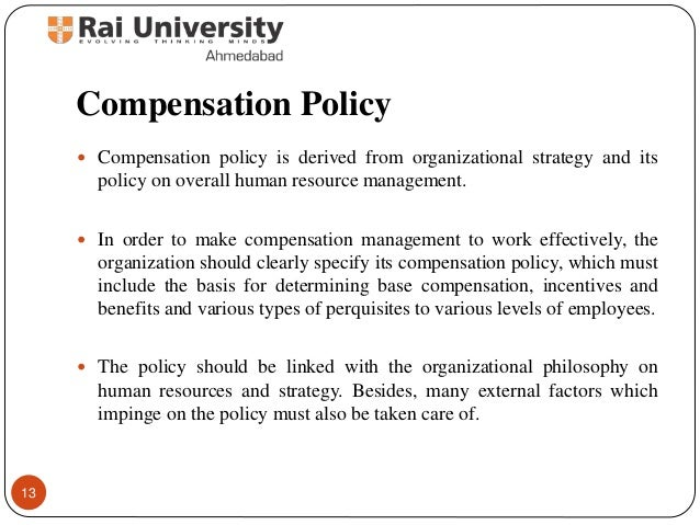 Introduction to compensation meaning and objectives