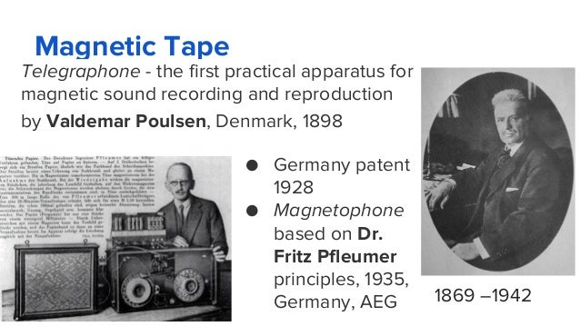 Magnetic Tape Telegraphone - the first practical apparatus for magnetic sound recording and reproduction by Valdemar Pouls...