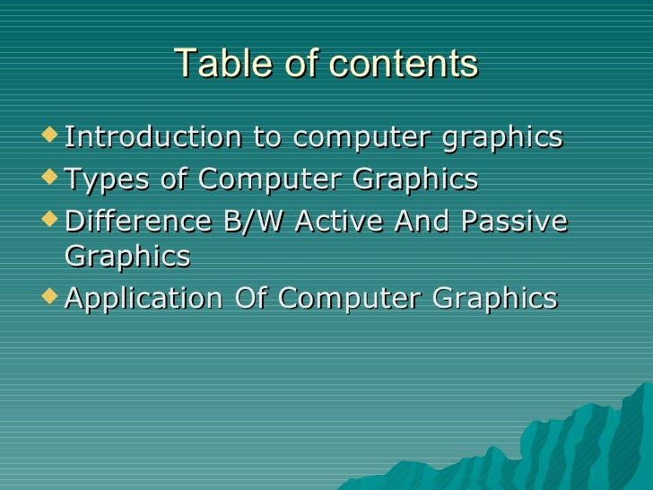 an introduction to computer graphics Welcome to introduction to computer graphics, a free, on-line textbook  covering the fundamentals of computer graphics and computer.