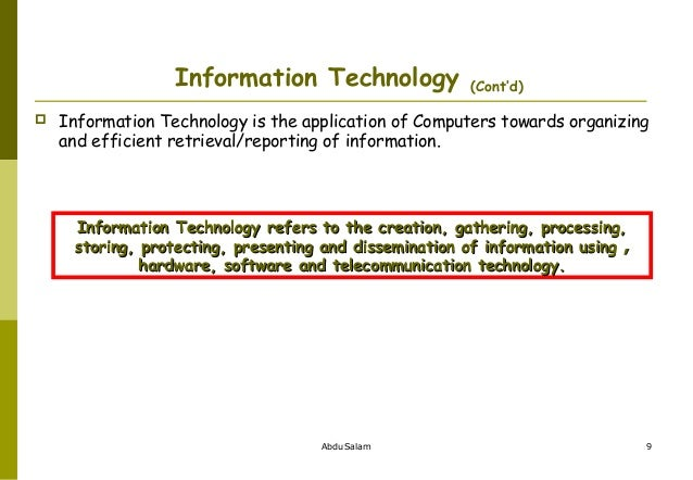 an introduction to the world of computer technology Cis 501 (martin): introduction 5 computer architecture is different  introduction 14 technology trends  • divide world into objects,.