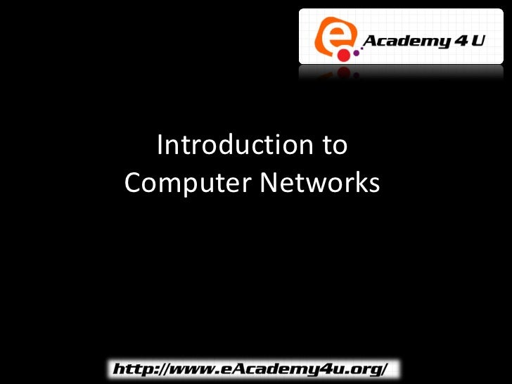 Introduction toComputer Networks
