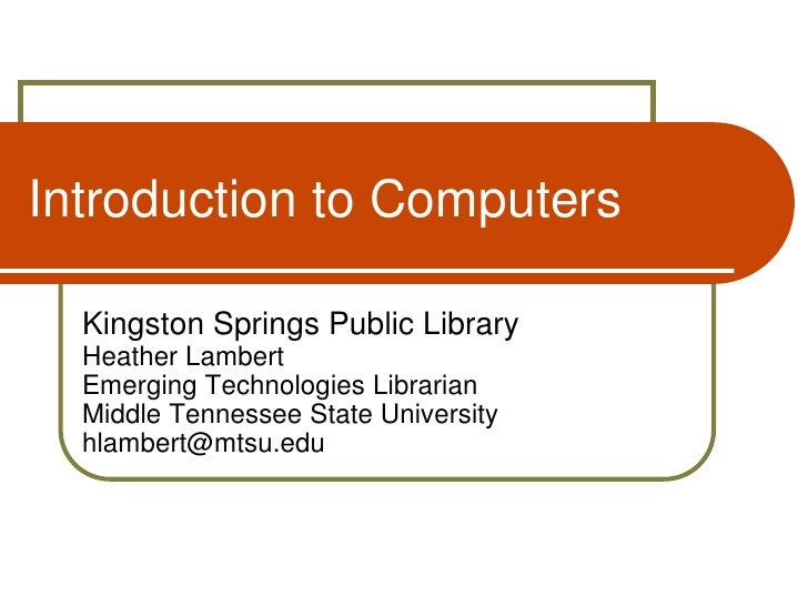 Introduction to computers 2