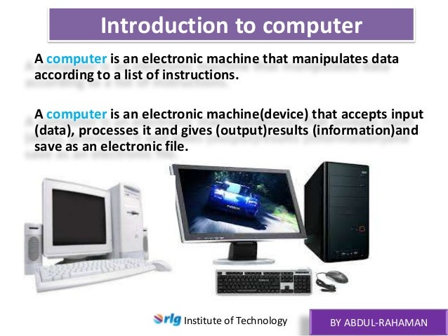 an introduction to the importance of computers Teaching with new technology series series introduction  in the literature on computers and learning,four perspectives can.