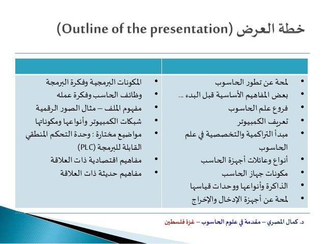 Introduction to computer sciences Slide 2