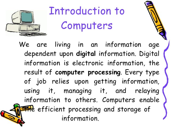 An introduction to the information technology in the new electronic age