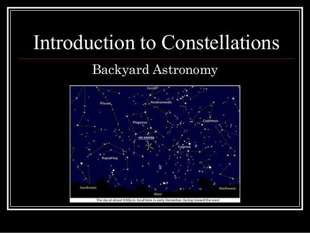 Introduction to Constellations Backyard Astronomy
