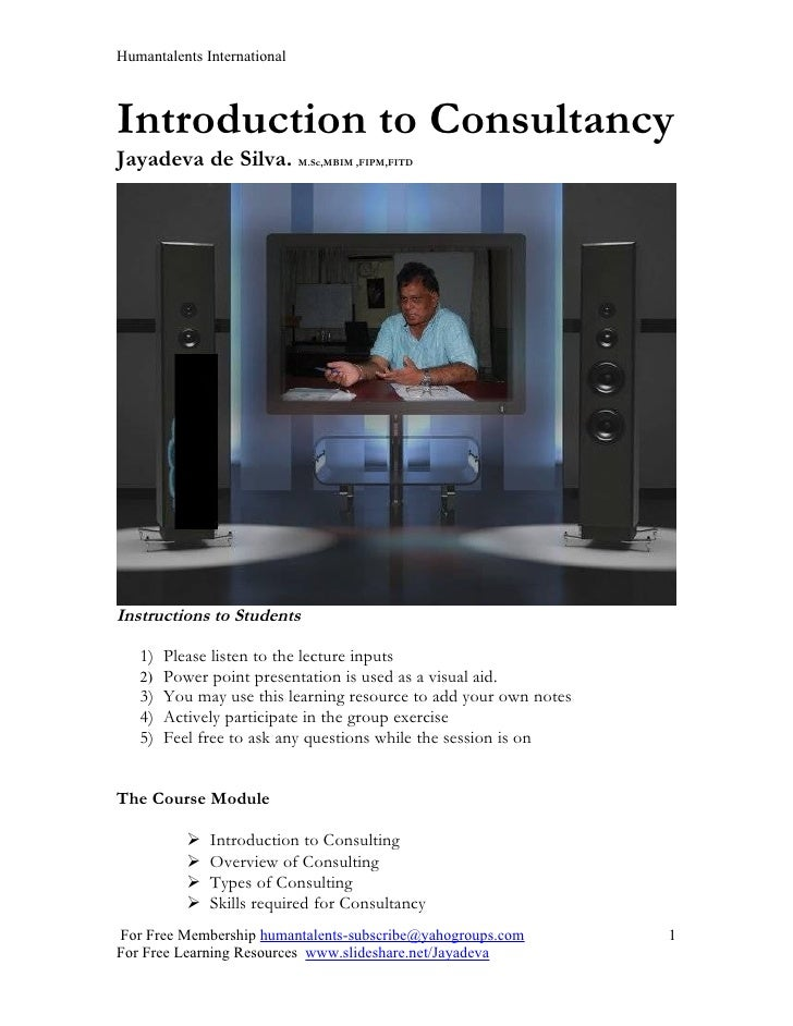 Introduction to consultancy( new )