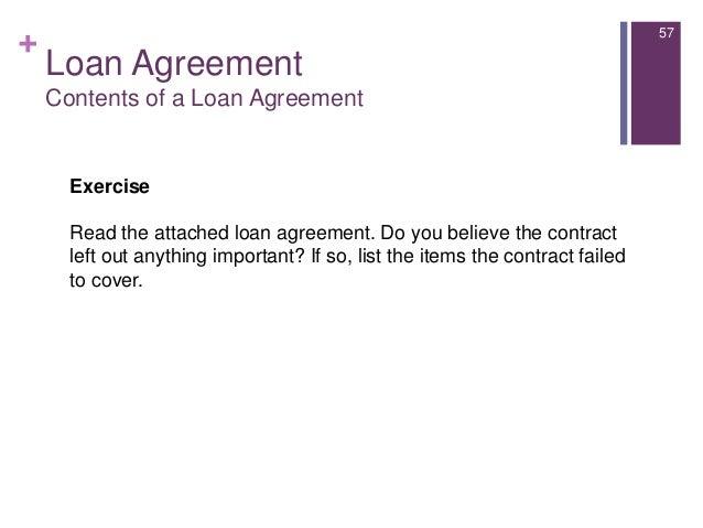 ... 57. + Loan Agreement ...  Consumer Loan Agreement