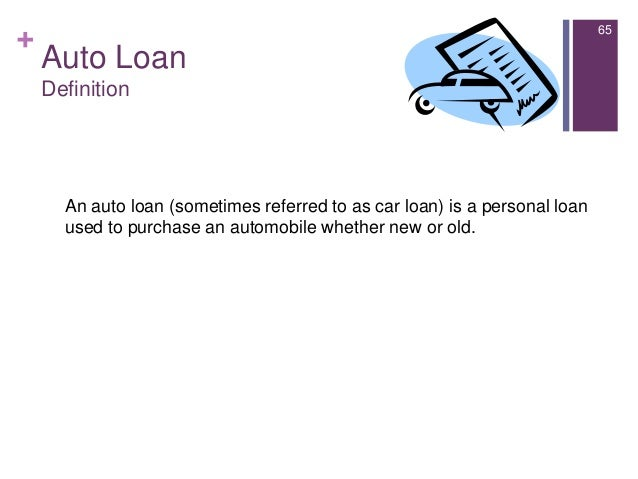 Financed Car Definition >> Introduction To Consumer Lending