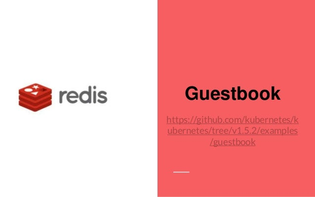 Guestbook https://github.com/kubernetes/k ubernetes/tree/v1.5.2/examples /guestbook