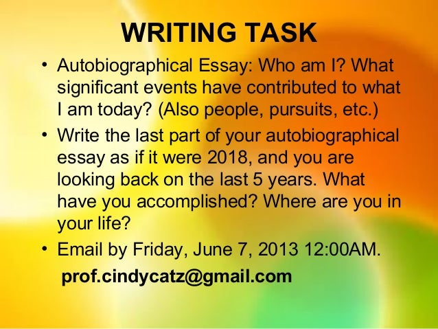 who am i today essay Free essay on the five events that have most influenced me made who i am available totally free at echeatcom, the largest free essay community.