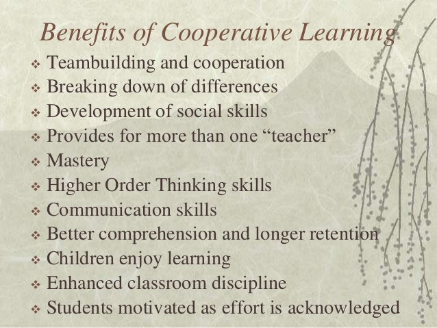 Collaborative Classroom Benefits ~ Introduction to the structural approach cooperative
