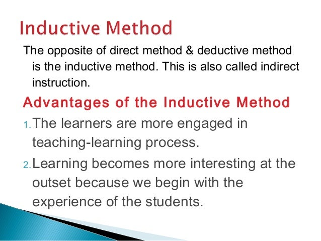 advantages and disadvantages of indirect instruction
