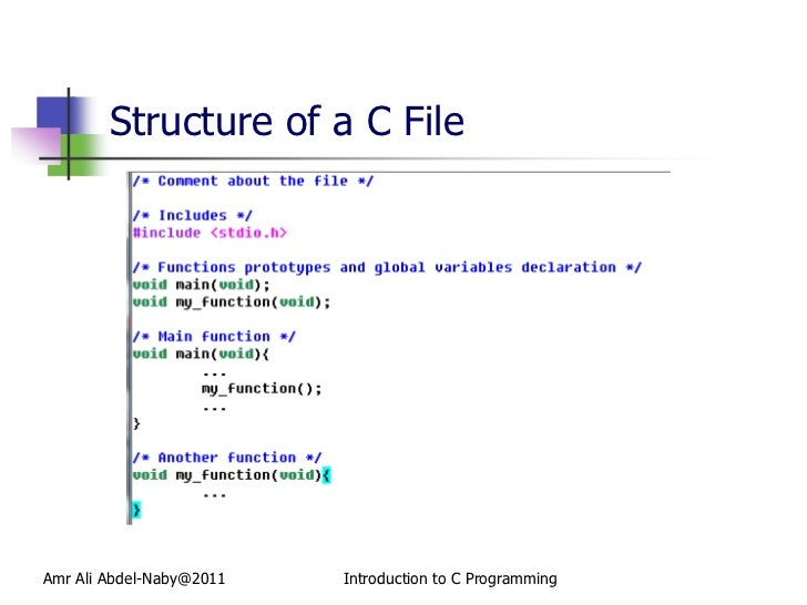 how to use file in c