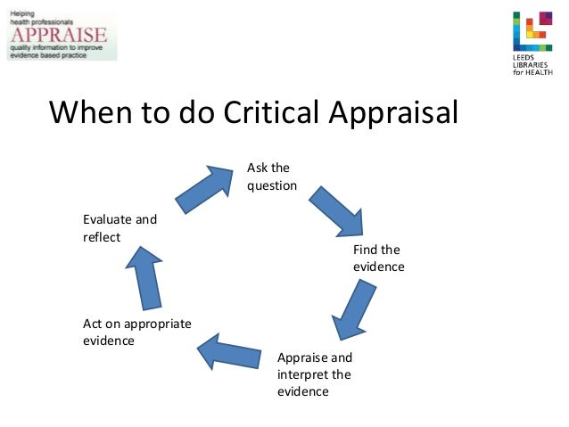 critical appraisal of the strategies and This review article presents a 10-step guide to the critical appraisal of research how to critically appraise an article skills in critical appraisal.